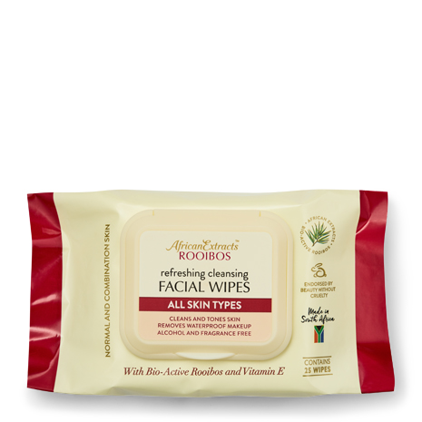 African Extracts Rooibos Skin Care - Facial Wipes - All Skin Types