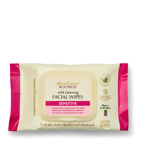 African Extracts Rooibos Skin Care - Facial Wipes - Sensitive